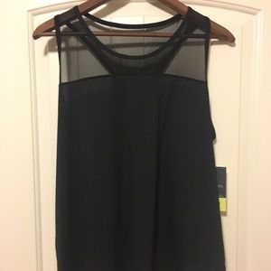 Xxl xersion work out tank with mesh detail. Cute!